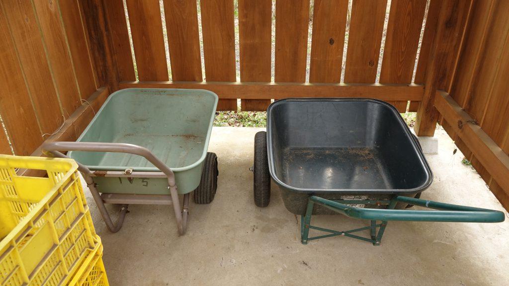 道具を運ぶための2輪車を準備しております。