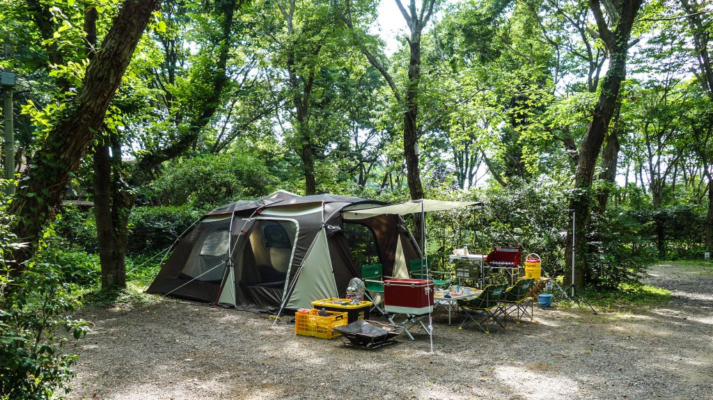 Facilities of camping ground